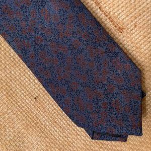 "Bar III Accessories - NEW Bar III Navy Wine Floral Cotton 2.5"" Necktie"